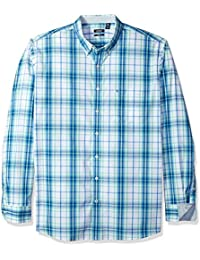 Men's Big and Tall Essential Plaid Long Sleeve Shirt