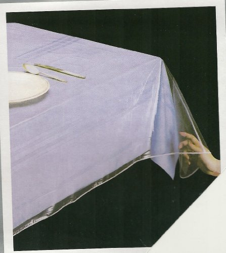 """DELUXE COLLECTION Clear Tablecloth Protector, Oblong 60"""" X 120"""""""