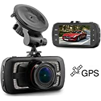 Flordgramy 2K Car Dash Cam Full HD 1440P 170 Degree Wide Angle Dashboard Camera Recorder with GPS , Ambarella A12, Super Night Vision, G-Sensor, Parking Monitor, Loop Recording , ADAS