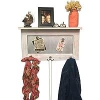 entryway shelf, coat rack, galvanized metal, wood shelf, metal shelf, Rustic Shelf, chippy paint