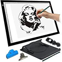 Missyee® LED Artist Stencil Board Tattoo Drawing Tracing Table Display Light Box Pad(A3 DC)