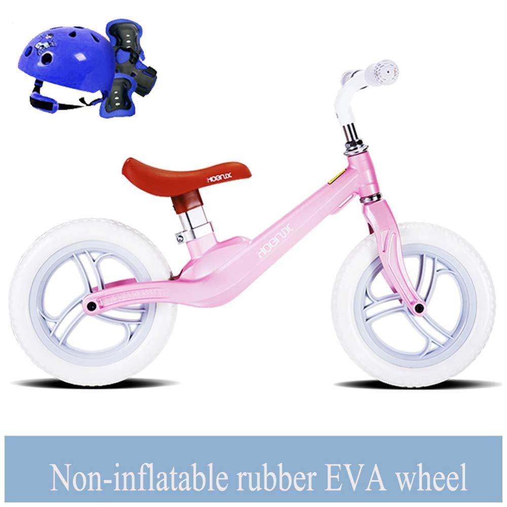 CHRISTMAD Equilibrio Bicicletas Scooter Bebé Caminante Infantil 2-5 Años De Edad Scooter No Pedal De Pie Bicicleta De Conducción De Regalos para Bebés,Pink