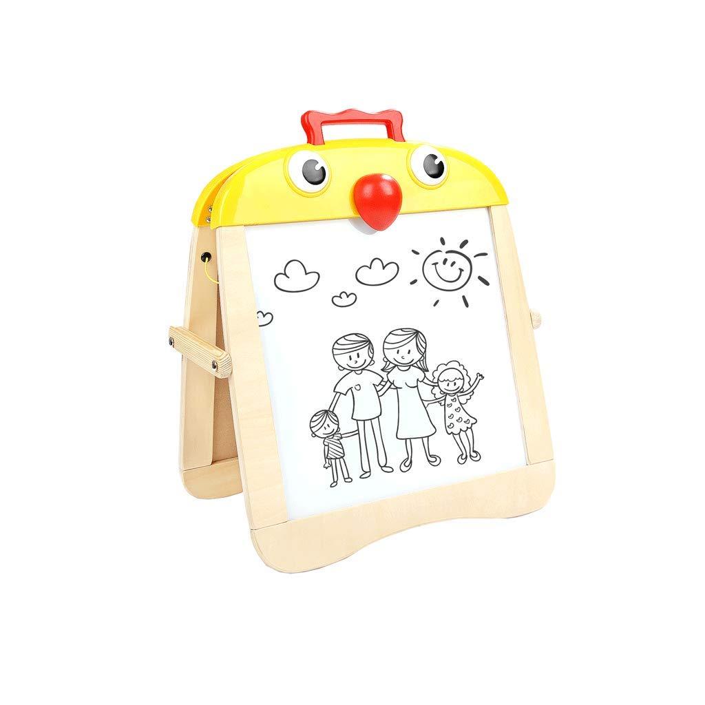 LIUFS Reißbrett Der Kinder SchwarzWeiss Doppelseitig Magnetisch ( Farbe : Gelb , größe : L )