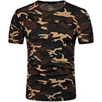 FUNIC 2018 Hot Sale ! Mens Camouflage Print O Neck Pullover T-Shirt Casual Tee Tops Blouse