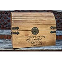 Every Love Story is Beautiful But Ours is my Favorite - Wedding Card Box - Wedding Card Holder - Rustic Wedding Decor - Keepsake Box
