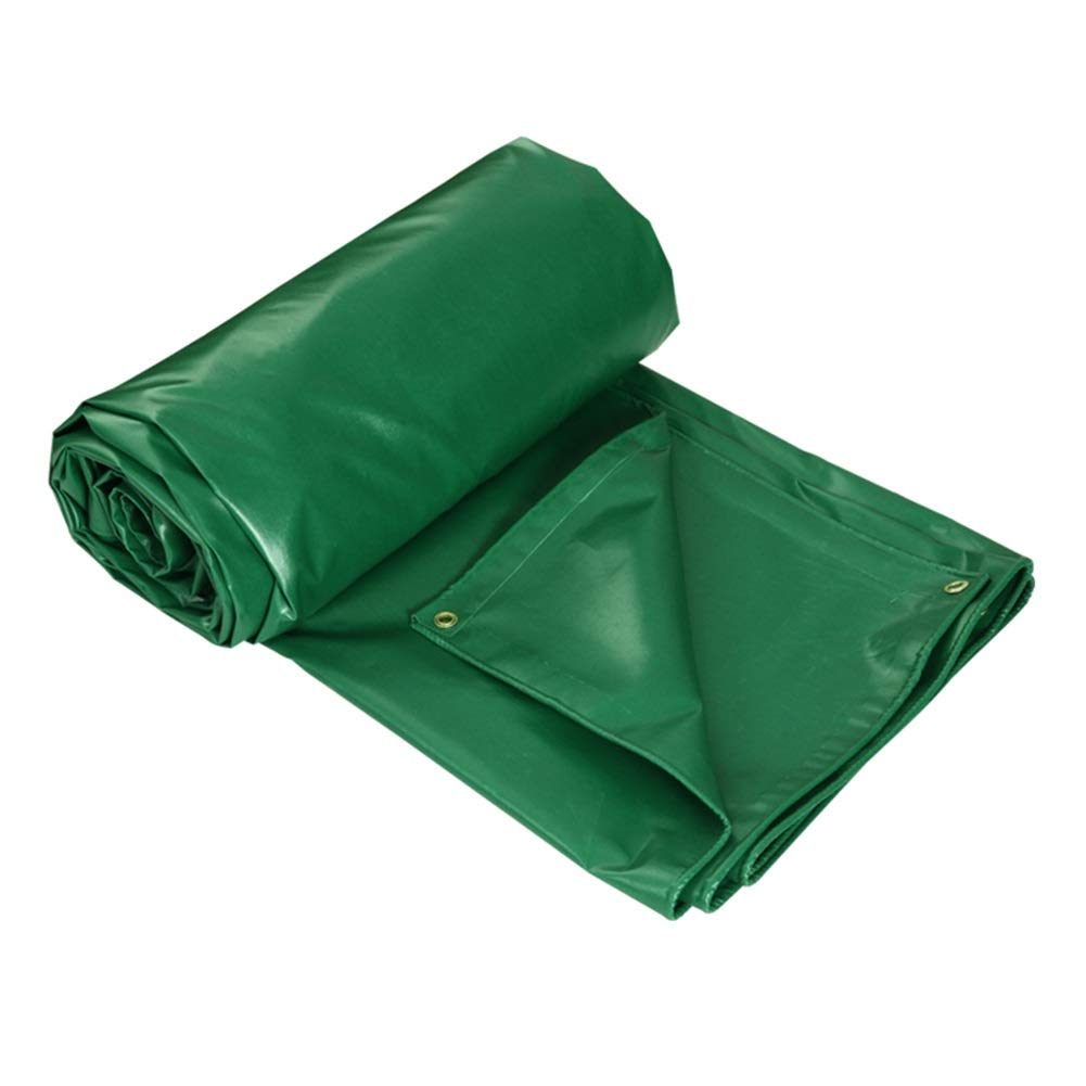 2M×2M  Dyl La bÂche de Toit et de Piscine Verte, imperméable et résistante, s'applique égaleHommest aux remorques de camions pour Bateaux de Camping-voiture d'extérieur, 450G   M²
