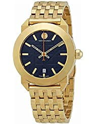 Tory Burch Whitney Blue Dial Gold-tone Ladies Watch TRB8003