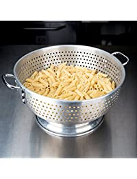 Investment 11 Qt. Aluminum Colander with Base and Handles save