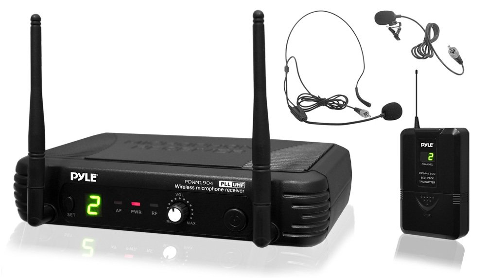 Pyle 8 Channel Wireless Microphone System Portable Uhf