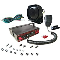 AS 100W Electronic Siren Kit ASCJB100E-SPK0021 3-Piece Pack with Siren Box Microphone PA System 8 Tones