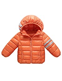 Baby Boys Girls Down Puffer Jackets Winter Hooded Coats Packable Lightweight Outwear
