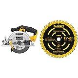 DEWALT DCS391B 20-Volt MAX Li-Ion Circular Saw, Tool Only & DEWALT DW9196 6-1/2-Inch 40T Cutting Precision Finishing Saw Blade