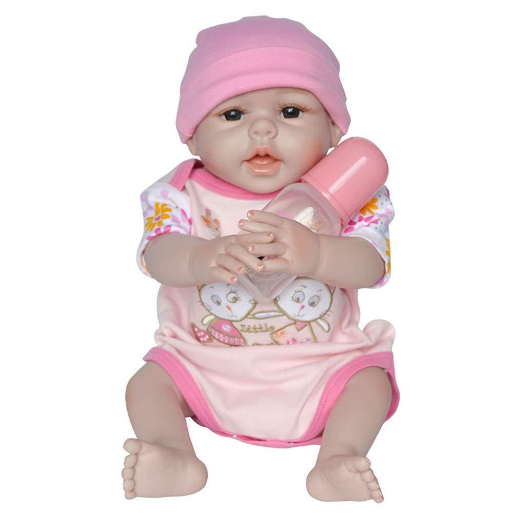 Omiky® New Born Baby, Funktions-Baby-Puppe, Vinyl-Puppe, lebensecht, realistisch, weich, Mädchen, Jungen, Baby, Geschenkidee,55 cm