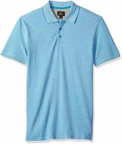 51ff078c461 LEE Men s Short Sleeve Striped Polo Shirt