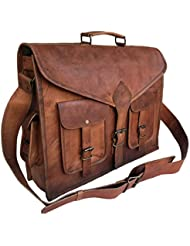 15 Inch Rustic Vintage Leather Messenger Bag Laptop Bag Briefcase Satchel bag