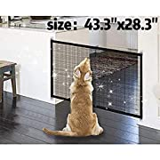 Magic Gate for Dogs 43.3 x28.3 ,Baby Safety Gates Pet Safety Gate,Portable Folding Safe Guard Install Anywhere Keep Your Baby and Pets Away from Kitchen and Outdoor