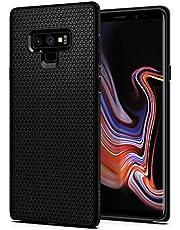 Spigen Liquid Air Compatibel met Samsung Galaxy Note 9 hoesje, Stijlvol patroonontwerp siliconen gsm-hoesje met luchtkussen cover case Matte Black