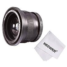 Neewer 52MM 0.35X Super Fisheye Wide Angle Lens w/ Macro Close Up Conversion Lens for Nikon D5300 D5200 D5100 D3300 D3200 D3100 D3000 DSLR Cameras + Microfiber Cleaning Cloth