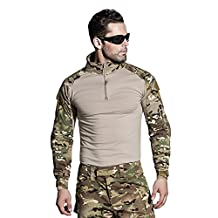 SINAIRSOFT Tactical Pants Shirt with Knee Pads Army Airsoft Combat BDU Pants Shirt MC