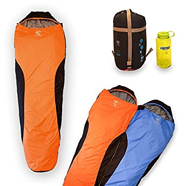 Outdoor Vitals OV-Light 35 Degree 3 Season Mummy Sleeping Bag, Lightweight, Backpacking, Ultra Compactable, Hiking, Camping, 1 Year Limited Warranty