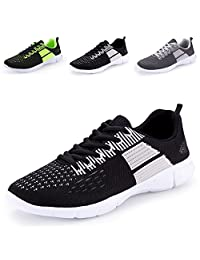 BAGGII Men's Breathable Trail Running Shoes Lightweight Lace-Up Casual Athletic Walking Sneakers