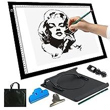 """A3 19"""" LED Artist Stencil Board Tattoo Drawing Tracing Table Display Light Box Pad"""