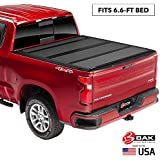 "BAK BAKFlip MX4 Hard Folding Truck Bed Tonneau Cover | 448121 | Fits 2014-18, 19 Limited/Legacy GM Silverado, Sierra: Limited/Legacy; 2014 1500, 15-19 ALL 6'6"" Bed"