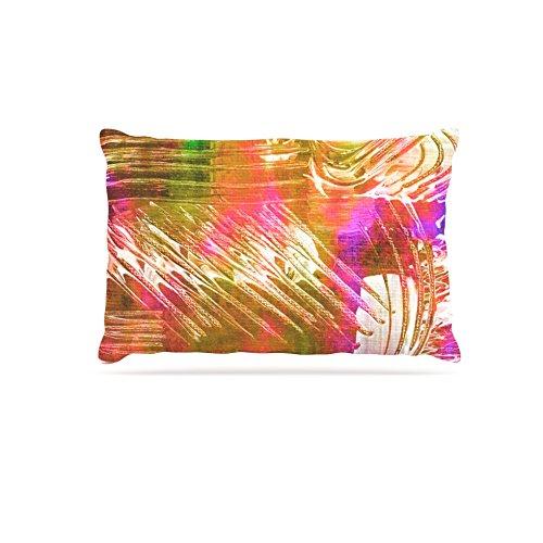 30 by 40\ Kess InHouse Ebi Emporium Beyond the Horizon  Pink Green Fleece Dog Bed, 30 by 40