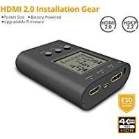 gofanco Prophecy Portable HDMI Tester Signal Pattern Generator Analyzer Installation Gear, Up to HDMI 2.0a 4K @60Hz 4:4:4 HDR 18Gbps, Battery Powered, HDCP 2.2, Firmware Upgradeable (PRO-HDMI2Gear)