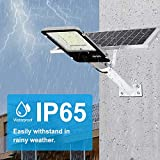100W Solar Street Flood Lights,APONUO Outdoor