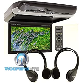 Sale Alpine PKG-RSE3HDMI 10.1' Overhead Flip Down WSVGA Monitor with Built-in DVD Player USB and HDMI Inputs