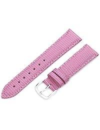Hadley-Roma Women's LSL725RH 180 18mm Pink Java Lizard Grain Watch Strap