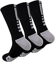Best Online Men Cushioned Mixed Color Dri fit Athletic Crew Socks 3 Pack