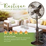 Oscillating Fan with Misting Kit - 3 Cooling Speeds