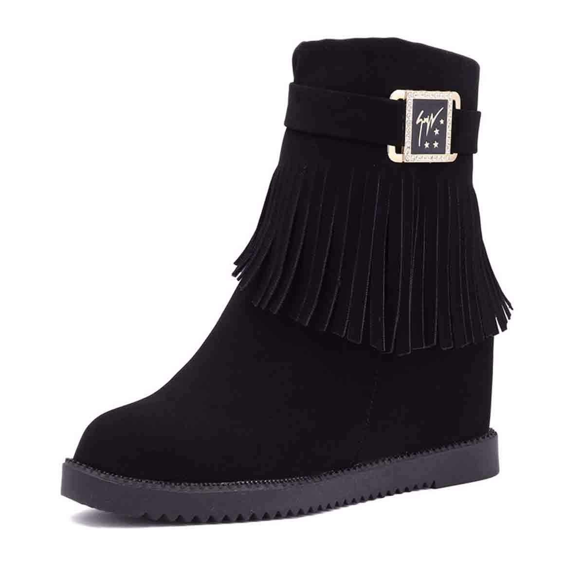 KOKQSX-Frauen Schuhe Mode Einem Stiefel innere größe mit Stiefeln