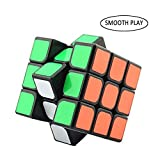 Speed Cube 3x3x3 Layer Magic Puzzle Speed Cube Brain Teaser Durable Smooth Twisty Proffessional Classic Colorful Portable For Adults International Competition Instruction Education (Speed Cube, Black)