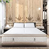 BedStory 12 Inch Queen Mattress, Luxury Gel Infused Memory Foam Double Mattress, Pillow Top Design with Pocketed Coil Spring, Premium Support Medium Firm Bed Mattress - CertiPUR-US Certified (Queen, 12 Inch Luxury Mattress)