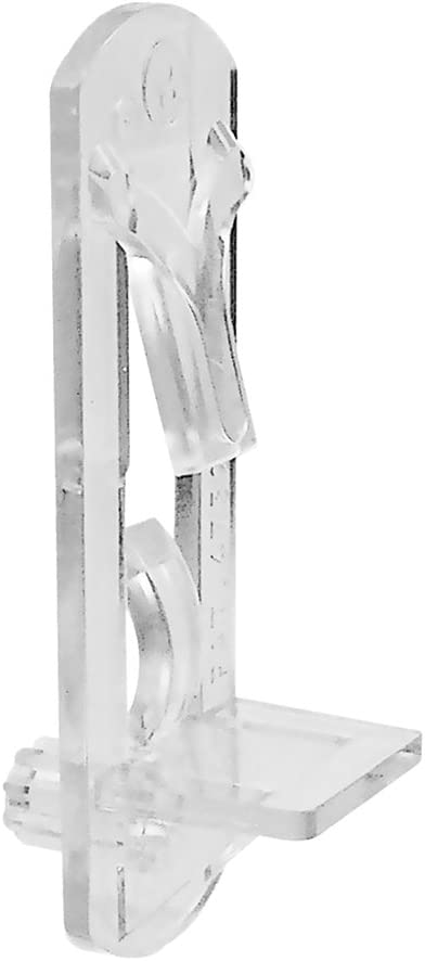 "Slide-Co 243423 Peg, Clear, Pack of 6 – Self-Locking, Fits 1/4-Inch Diameter Hole & 3/4-Inch Easy Installation, Wooden Shelf Support Bracket, 1/4"" Thickness: 3/4"": Home Improvement"