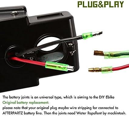 24 V /& 36 V V/élo /électrique Pedelec Batterie pour DIY umr/üst Batterie Universel avec Support et chargeur