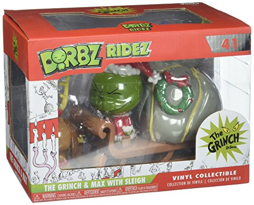 Funko Dorbz Ridez Grinch and Max on Sled Collectible Vinyl Figure - Max Costume Grinch