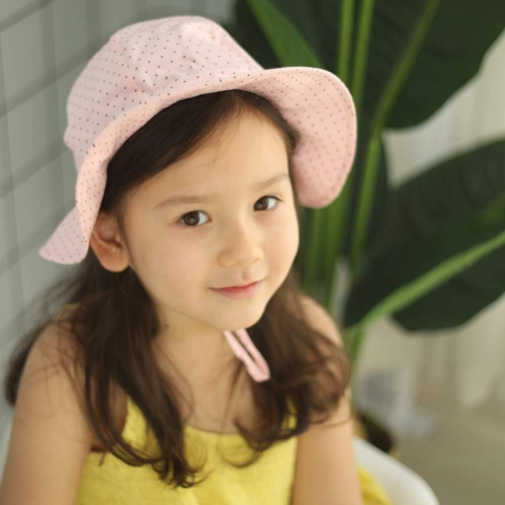 Ami/&Li tots Fille Chapeau de Soleil R/églable Large Bord Chapeau Protection Solaire UPF 50 pour B/éb/é Fille Gar/çon Nourrisson Enfants Tout-Petit Unisexe