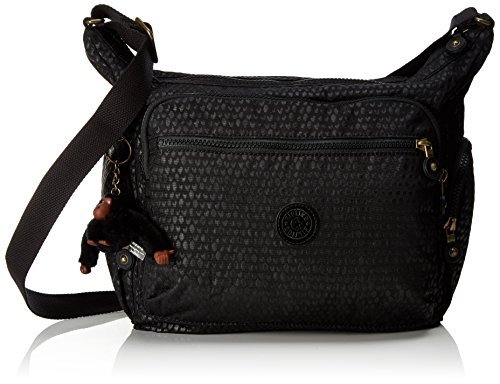 Black Shoulder Gabbie Kipling Women's Scarlet Black Bag Kipling Gabbie Emb x6wIqWYER