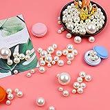 DomeStar Plastic Bead Pearls, 185 PCS 5 Sizes