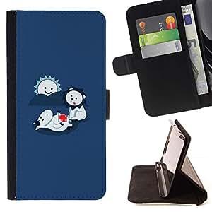 For Apple iPhone SE / iPhone 5 / iPhone 5S Case , LOL divertido Comer León lindo- la tarjeta de Crédito Slots PU Funda de cuero Monedero caso cubierta de piel