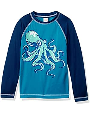 Baby Toddler Boys' Teal Octo Rashgrd