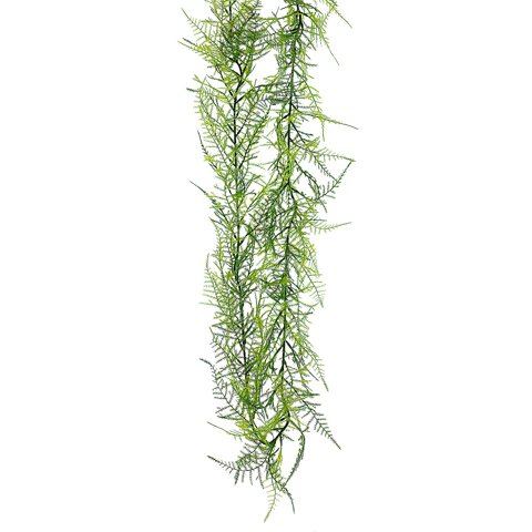 Asparagus Fern Garland in Two Tone Green - 6 ft. Long x 4.6'' Wide by SilksAreForever