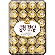 Ferrero Rocher Fine Hazelnut Chocolates, 48 Count, Chocolate Gift Box for Valentines Day candy, 21.2 oz
