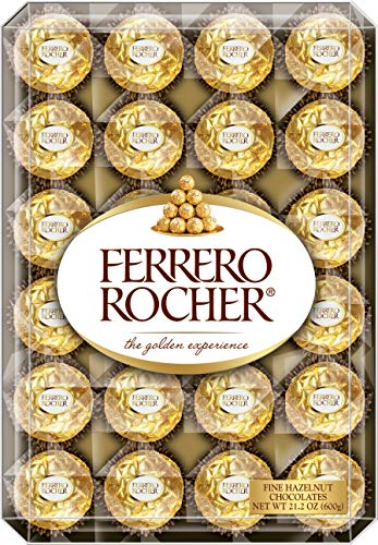 Ferrero Rocher Fine Hazelnut Chocolates, 48Count Chocolate Gift Box, 21.2 oz ()