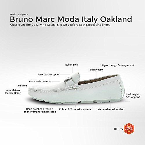 Mocassino Driving Bruno Mens Oakland Driving Mocassini Scarpe 2-white