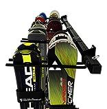 StoreYourBoard Omni Ski and Snowboard Wall Storage Rack   Holds 10 Pairs of Skis   Ski Wall Mount Home & Garage Storage Hanger